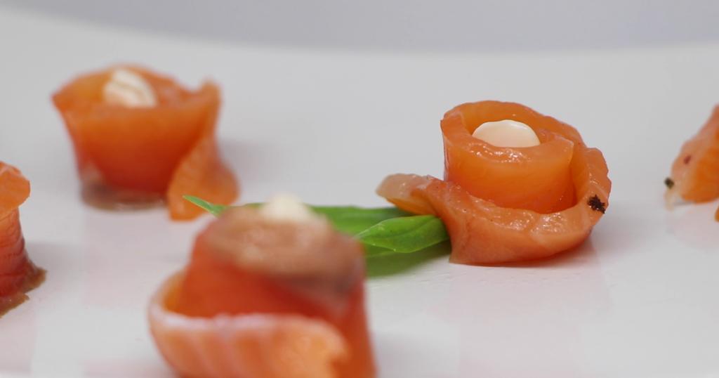 antipasto di salmone olo kalò